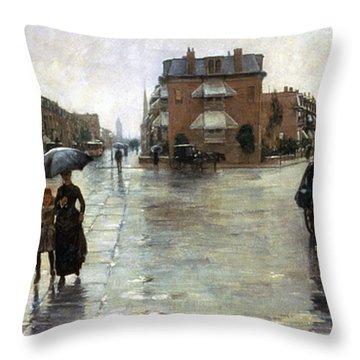 Hassam: Rainy Boston, 1885 Throw Pillow by Granger