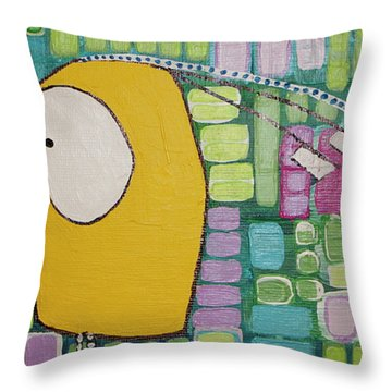 Throw Pillow featuring the painting Heading West by Donna Howard