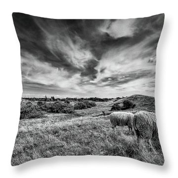 Heather Hills I Throw Pillow