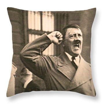 Hitler The Orator Throw Pillow
