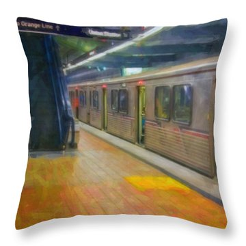Throw Pillow featuring the photograph Hollywood Subway Station by David Zanzinger