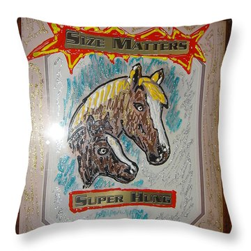 Throw Pillow featuring the painting Horses by Lisa Piper