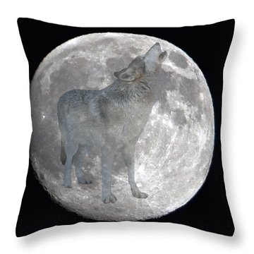 Howl At The Moon Throw Pillow