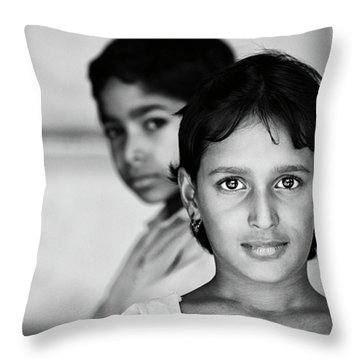 Throw Pillow featuring the photograph Indian Eyes by Stefan Nielsen