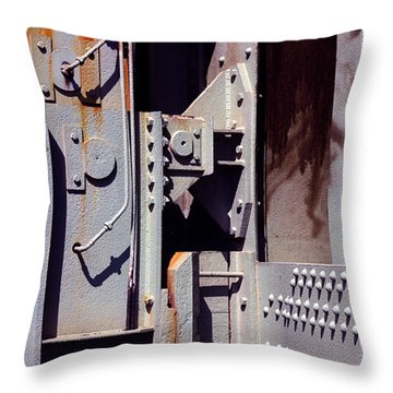 Industrial Background Throw Pillow by Carlos Caetano
