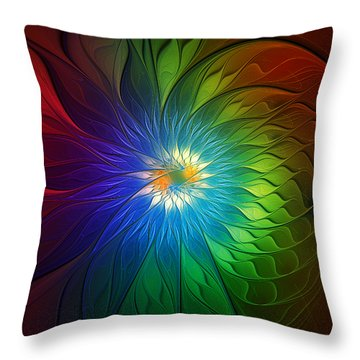 Into Light Throw Pillow by Amanda Moore