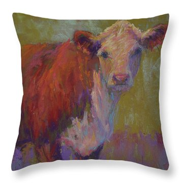 Iris Throw Pillow by Susan Williamson