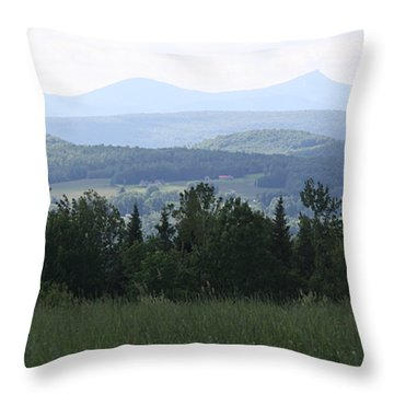 Jay Peak From Irasburg Throw Pillow by Donna Walsh