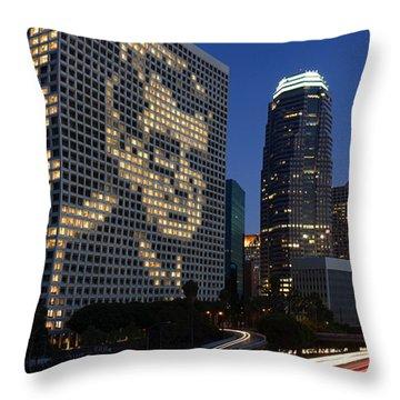 Joe Paterno City Scape Throw Pillow by Paul Van Scott