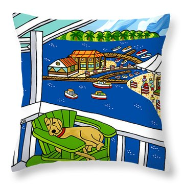 July 4th Snoozer - Cedar Key Throw Pillow