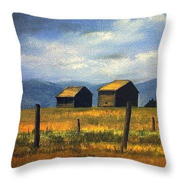 Kila Barns Throw Pillow