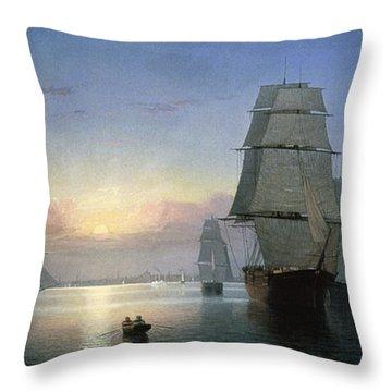 Lane: Boston Harbor Throw Pillow by Granger