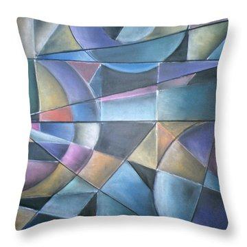 Light Patterns Throw Pillow