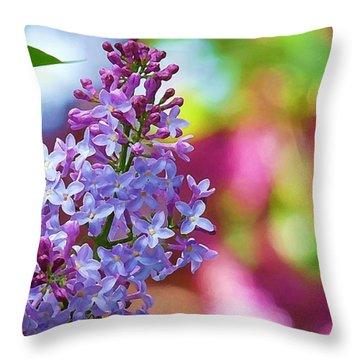 Lilacs 2012 Throw Pillow
