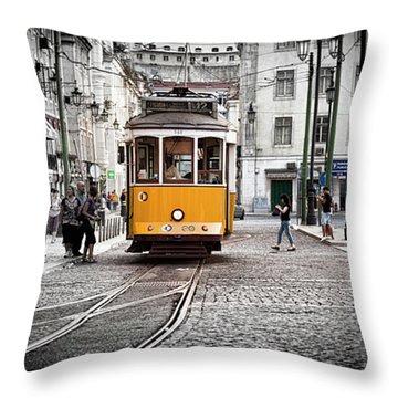 Lisboa Tram II Throw Pillow