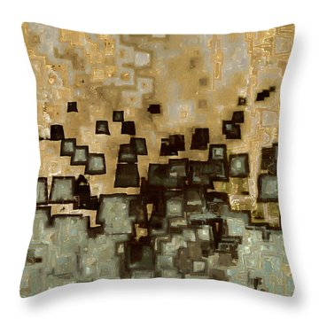 Living In The Past Throw Pillow by Mark Lawrence