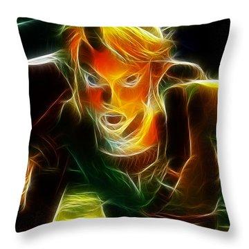 Magical Zelda Link Throw Pillow by Paul Van Scott