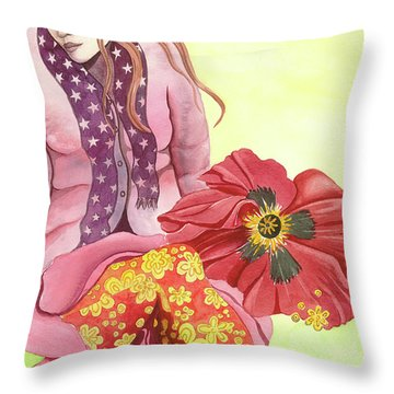 Margaret's Magic Stockings Throw Pillow by Sheri Howe