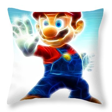 Mario Throw Pillow by Paul Van Scott