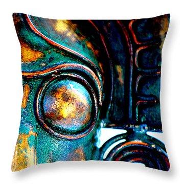 Masked Throw Pillow by Floyd Menezes
