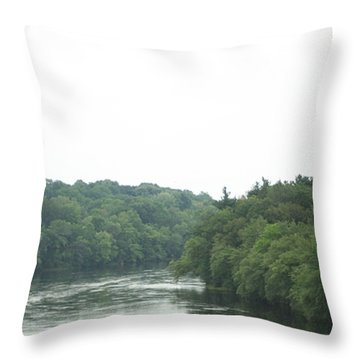 Mighty Merrimack River Throw Pillow by Barbara S Nickerson