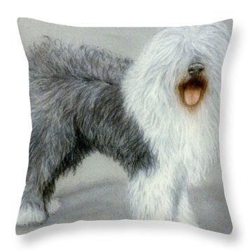 Miss Wilsome Throw Pillow by Jan Amiss