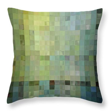 Modern Tile Art One Modern Decor Collection Throw Pillow by Mark Lawrence