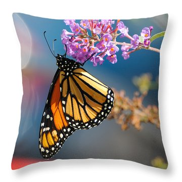 Monarch 2011 E Throw Pillow