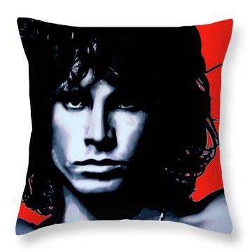 Morrison Throw Pillow by Luis Ludzska
