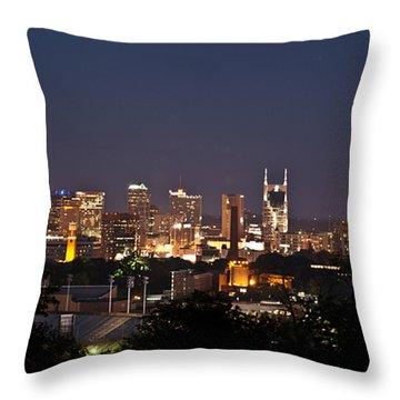Nashville Cityscape 1 Throw Pillow by Douglas Barnett