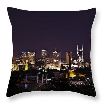 Nashville Cityscape 4 Throw Pillow by Douglas Barnett