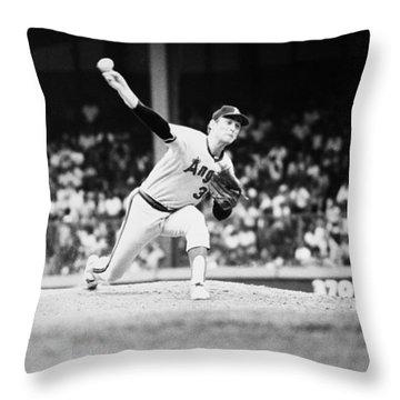 Nolan Ryan (1947- ) Throw Pillow by Granger