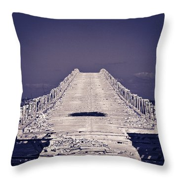 Overseas Railroad II Throw Pillow