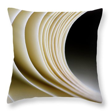 Throw Pillow featuring the photograph Paper Curl by Pedro Cardona