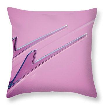 Throw Pillow featuring the photograph Pink Cadillac by Stefan Nielsen