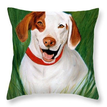 Pointer Throw Pillow by Jan Amiss
