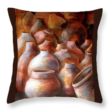 Pots In Morocco Throw Pillow