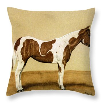 Prize Paint Throw Pillow by Jan Amiss