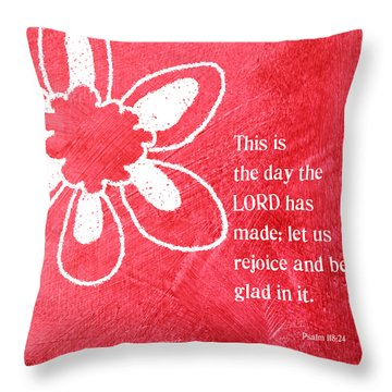 Rejoice Throw Pillow by Linda Woods