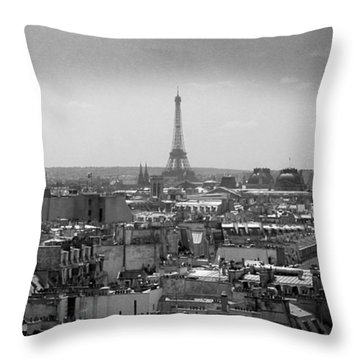 Roof Of Paris. France Throw Pillow by Bernard Jaubert