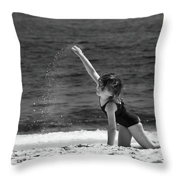Sand Dancer Throw Pillow by Michelle Wiarda