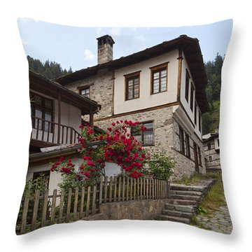 Shiroka Laka Village Throw Pillow