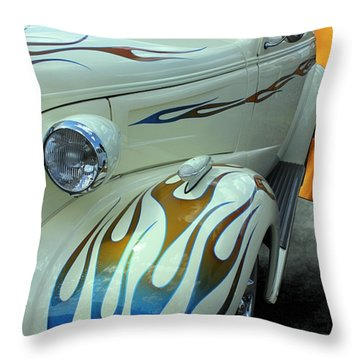 Smokin' Hot - 1938 Chevy Coupe Throw Pillow by Betty Northcutt