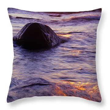 Sunset Lights Throw Pillow by Konstantin Dikovsky