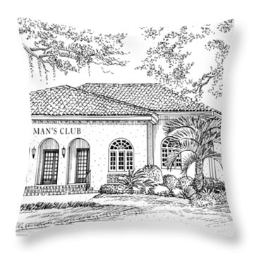 Tallahassee Womens Club Throw Pillow