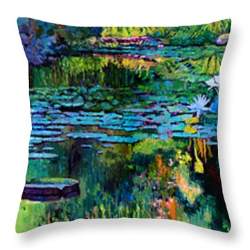 The Abstraction Of Beauty One And Two Throw Pillow by John Lautermilch