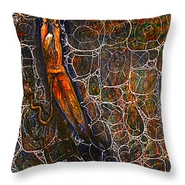 The Beast Steps Into The Old Man's Cabin Throw Pillow by Al Goldfarb