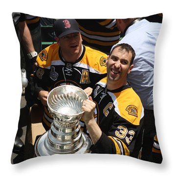 The Cup Throw Pillow by Greg DeBeck