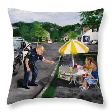 The Lemonade Stand Throw Pillow