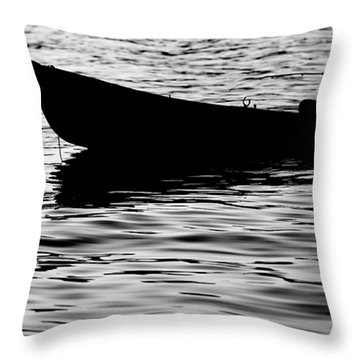 Throw Pillow featuring the photograph The Old Fishermen by Pedro Cardona